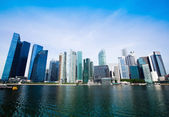Wide panorama of skyline Singapore — Stock Photo