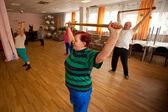 Podporozhye, rusya - 5 temmuz: emeklilere yönelik sosyal hizmetler merkezi ve engelliler otrada sağlık günü. — Stok fotoğraf