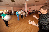 PODPOROZHYE, RUSSIA - MAY 4: Day of Health in Center of social services for pensioners and disabled Otrada — Stock Photo