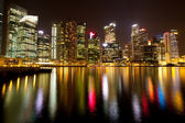 Singapore business district Marina Bay — Stock Photo