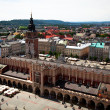 KRAKOW, POLAND - JULY 18: View of the Main Square - historical center of Krakow, May 18, 2012 in Krakow, Poland. — Stock Photo