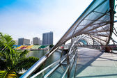 SINGAPORE - APRIL 15: A view of city in Marina Bay business district on April 15, 2012 on Singapore. — ストック写真