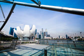 SINGAPORE - APR 15: A view of city in Marina Bay business district on Apr 15, 2012 on Singapore. — ストック写真