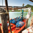 KO CHANG, THAILAND - JAN 31: Boats in the Salakphet fishing village, Jan 31, 2013 on Ko Chang, Thailand. — Stock Photo