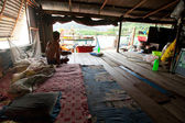 KO CHANG, THAILAND - JAN 31: Unidentified fisherman in his hut in the Salakphet fishing village, Jan 31, 2013 on Ko Chang, Thailand. — Stock Photo