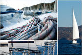 Collage about Sailing — Stock Photo