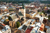 Top view of the Cathedral in Lviv, Ukraine — Stock Photo