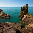 Reefs on the seacoast Ko Chang island, Thailand - Stock Photo