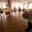 PODPOROZHYE, RUSSIA - JULY 5: Day of Health in Center of social services for pensioners and disabled Otrada. — Φωτογραφία Αρχείου
