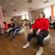 PODPOROZHYE, RUSSIA - JULY 5: Day of Health in Center of social services for pensioners and disabled Otrada. — Stock Photo