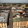 KRAKOW, POLAND - JULY 18: An aerial view of the old town of Krakow, May 18, 2012 in Krakow, Poland. - Stok fotoğraf
