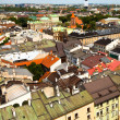 View of the old town of Kracow, Poland. - Stock Photo