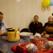 PODPOROZHYE, RUSSIA - MAY 3: Day of Health in Center of social services for pensioners and the disabled Otrada. — Stockfoto
