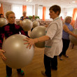 PODPOROZHYE, RUSSIA - MAY 3: Day of Health in Center of social services for pensioners and the disabled Otrada — Photo