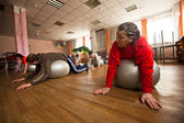 PODPOROZHYE, RUSSIA - JULY 5: Day of Health in Center of social services for pensioners and disabled Otrada. — ストック写真