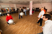 PODPOROZHYE, RUSSIA - JULY 5: Day of Health in Center of social services for pensioners and disabled Otrada. — Foto de Stock