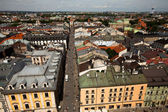 KRAKOW, POLAND - JULY 18: An aerial view of the old town of Krakow, May 18, 2012 in Krakow, Poland. — Stock Photo