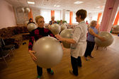 PODPOROZHYE, RUSSIA - MAY 3: Day of Health in Center of social services for pensioners and the disabled Otrada — Stock Photo