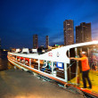 BANGKOK - APRIL 30: Water express bus plying the Chao Phraya River, April 30, 2012 on Bangkok. — Stock Photo