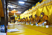 Ceremony Wat Klong Prao monastery after Chang Buddha festival — Stock Photo