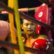 CHANG, THAILAND - FEB 22: Unidentified Muaythai fighter in the ring, Feb 22, 2013 on Chang, Thailand — 图库照片