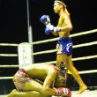 Foto de Stock  : CHANG, THAILAND - FEB 22: Unidentified Muay Thai fighters compete in an amateur kickboxing match, Feb 22, 2013 on Chang, Thailand