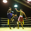 Постер, плакат: CHANG THAILAND FEB 22: Unidentified Muay Thai fighters compete in an amateur kickboxing match Feb 22 2013 on Chang Thailand
