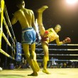 CHANG, THAILAND - FEB 22: Unidentified Muay Thai fighters compete in an amateur kickboxing match, Feb 22, 2013 on Chang, Thailand — Foto de Stock