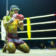 CHANG, THAILAND - FEB 22: Unidentified Muaythai fighter in ring during match, Feb 22, 2013 on Chang, Thailand — Zdjęcie stockowe