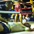 CHANG, THAILAND - FEB 22: Unidentified Muaythai fighters in the ring, Feb 22, 2013 on Chang, Thailand. — Stock Photo