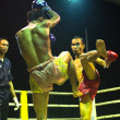 CHANG, THAILAND - FEB 22: Unidentified Muay Thai fighters compete in an amateur kickboxing match, Feb 22, 2013 on Chang, Thailand — Stock Photo