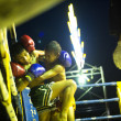 Постер, плакат: CHANG THAILAND FEB 22: Unidentified young Muaythai fighters in ring during match Feb 22 2013 on Chang Thailand