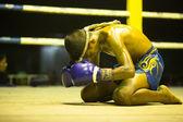 Chang, Tailândia - 22 de fevereiro: não identificado lutador muaythai jovem no ringue durante partida, 22 de fevereiro de 2013 em Chang, Tailândia — Fotografia Stock