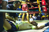CHANG, THAILAND - FEB 22: Unidentified Muaythai fighters in the ring, Feb 22, 2013 on Chang, Thailand. — Foto Stock