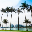 SINGAPORE - APRIL 15: A view of city in Marina Bay business district on April 15, 2012 on Singapore — 图库照片