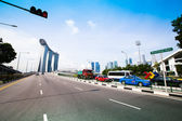 SINGAPORE - APRIL 15: A view of city in Marina Bay business district on April 15, 2012 on Singapore — Stock Photo