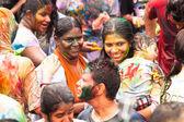 Holi festival van kleuren — Stockfoto