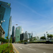A view of city in Marina Bay business district on Singapore — Stok fotoğraf