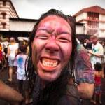 Celebrated Holi Festival of Colors in Kuala Lumpur, Malaysia — Stock Photo #23445180