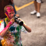 Celebrated Holi Festival of Colors in Kuala Lumpur, Malaysia — Stock Photo