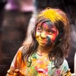 Celebrated Holi Festival of Colors in Kuala Lumpur, Malaysia — Stock Photo #23445278