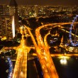 A view of city from roof Marina Bay Hotel in night on Singapore — Photo