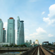 View of the city from Kelana Jaya Line in Kuala Lumpur. - Foto Stock