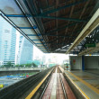 View of the city from Kelana Jaya Line in Kuala Lumpur. — Stock Photo