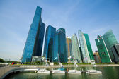 A view of city in Marina Bay business district on Singapore — Stock Photo