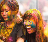 Celebre holi festival di colori a kuala lumpur, malesia — Foto Stock
