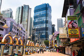 One of the streets in the city center in Kuala Lumpur — Stock Photo