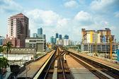 View of the city from Kelana Jaya Line in Kuala Lumpur. — Stock Photo