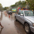 KO CHANG, THAILAND - APR 13: celebrated Songkran Festival, on 13 Apr 2013 on Ko Chang, Thailand. Songkran is celebrated in Thailand as the traditional New Year\'s Day from 13 to 16 April. — Stock fotografie