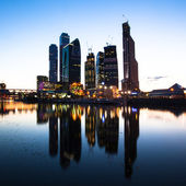MOSCOW - SEPTEMBER 17: The Moscow International Business Center, Moscow-City on September 17, 2011 in Moscow. Located near the Third Ring Road, the Moscow-City area is currently under development. — Stock Photo